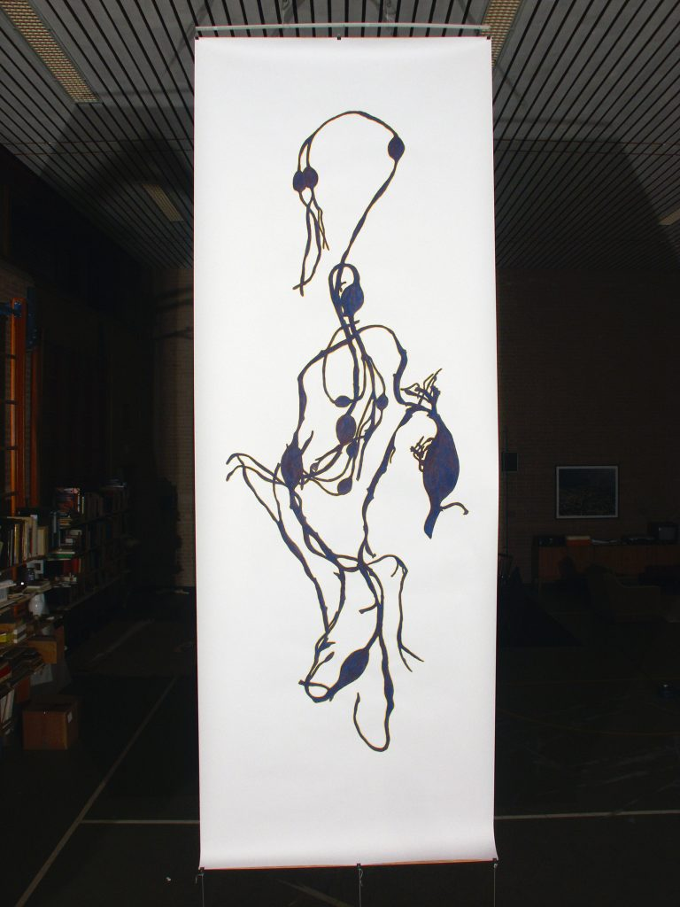 Gouache, 150 x 450 cm