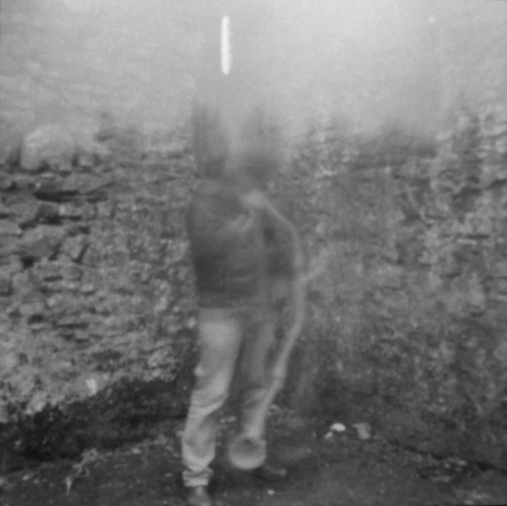Performance van 120 sec. in fort James, Kinsale. sound recording and pinhole light-exposure